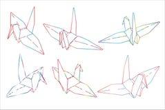 Papier D Origami D Oiseau Simple Vecteur D Illustration Au Trait