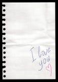 Papier d'un cahier Photos stock