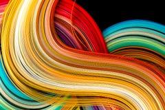 Papier dans des couleurs d'arc-en-ciel photos libres de droits