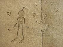 Papier dans l'amour Photos libres de droits