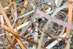 Papier déchiqueté Photographie stock libre de droits