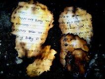 Papier de brûlure Photos stock