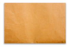 Papier de Brown sur le fond blanc Photographie stock libre de droits