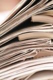 Papier de bulletin d'information photos stock