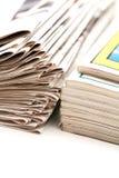 Papier de bulletin d'information image stock