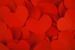 Papier de coeur de Valentine Red pour le fond Image libre de droits
