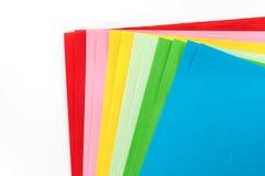 Papier de couleur Photographie stock