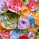 Papier de couleur de fleur Image stock