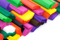 Papier de crepe coloré Photographie stock