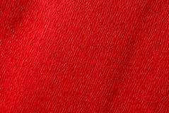 Papier de crepe rouge image stock