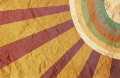 Papier de cru avec le rayon de soleil. Photo libre de droits
