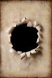 Papier de cru avec le trou Image stock