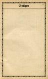 Papier de cru d'un vieux cahier. Image stock