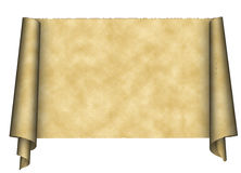 Papier de défilement de cru Image stock