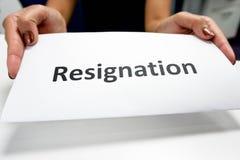 Papier de démission photos libres de droits
