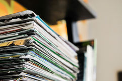 papier de facturation sur la table image stock