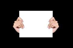 Papier de fixation de main Photographie stock libre de droits