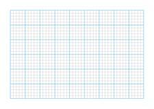 Papier de graphique de la taille A9 illustration libre de droits