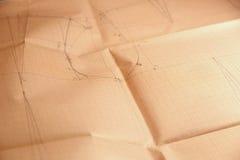 Papier de grille de millimètre avec le dessin Photographie stock libre de droits