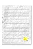 Papier de lettre blanc blanc Images libres de droits
