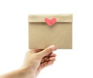 Papier de lettre de prise de main Image libre de droits