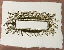 Papier de métier avec le titre blanc de conception florale images libres de droits
