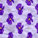 Papier de métier de vecteur avec des fleurs d'iris Images stock