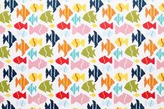 Papier de modèle de poissons Photo stock
