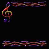 Papier de musique illustration stock