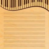 Papier de musique décoré des clés Images stock