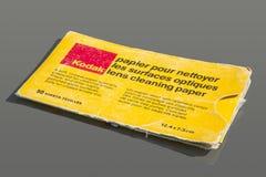 Papier de nettoyage de lentille Image stock
