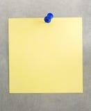 Papier de note au fond en métal Images libres de droits