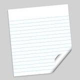 Papier de note avec le chemin Photo libre de droits
