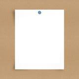 Papier de note blanc à bord de fond Images libres de droits