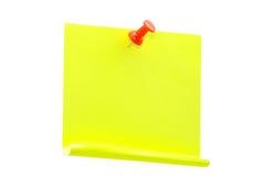 papier de note blanc Image libre de droits