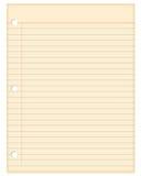 Papier de note blanc de cru Photos stock