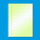 Papier de note blanc de pile vide sur le fond bleu Images libres de droits