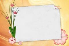 Papier de note blanc sur le fond texturisé Photo stock