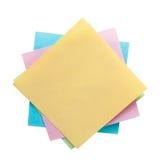 Papier de note coloré d'autocollant Photographie stock libre de droits