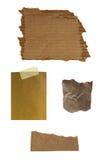 Papier de note d'isolement sur le blanc Photographie stock libre de droits