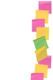 Papier de note de bâton sur le fond blanc d'isolement Photo stock