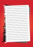 Papier de note de vecteur Photographie stock libre de droits