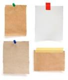 Papier de note en lambeaux Image libre de droits