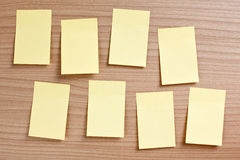 Papier de note jaune Photo stock