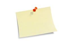 Papier de note jaune. image libre de droits