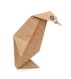 Papier de pingouin d'origami Photo stock