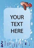 Papier de postard de l'hiver Images libres de droits