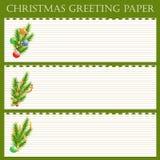 Papier de salutation de Noël Photos stock