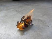 Papier de soie de soie du feu Image stock