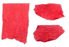 Papier de soie de soie rouge déchiré photographie stock libre de droits